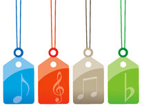 Music tags Royalty Free Stock Images