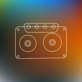 Music Tape line Abstract Background. Vector Illustration Stock Photos