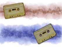 Music tape. On grunge banner background Royalty Free Stock Image