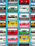 Music tape seamless. Drawing Royalty Free Stock Photography