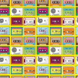 Music tape seamless pattern. Drawing Stock Photography