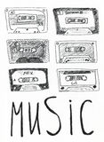 Music tapes Stock Photo