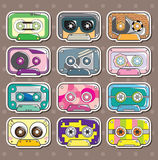 Music Tapes stickers. Cartoon vector illustration Stock Photo
