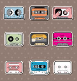 Music Tapes stickers Royalty Free Stock Image