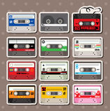 Music Tapes stickers. Cute cartoon vector illusttration Stock Image