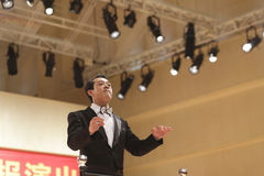 Music teacher fanwenqiang as orchestra conductor Royalty Free Stock Photos