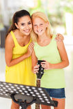 Music teacher girl stock photo