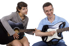 Music Teacher and Student Royalty Free Stock Photo