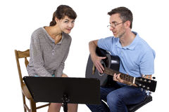 Music Teacher and Student Stock Photos