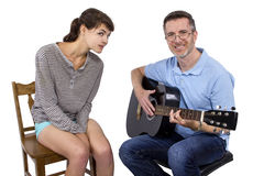 Music Teacher and Student Royalty Free Stock Photography