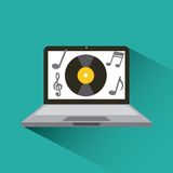 Music and technology design Royalty Free Stock Image