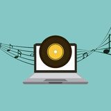 Music and technology design Stock Photography