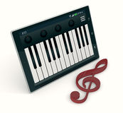 Music and technology Royalty Free Stock Photo