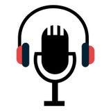 Music and technology symbol design. Stock Photos
