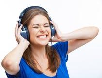 Music teenager girl dancing Stock Images