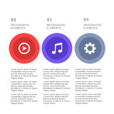 Music template, number paper, cut template. Conceptual creative template, infographics elements Royalty Free Stock Images
