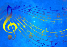 Music Template. Template with purely music notation elements. Everything from notes to clefs to symbols Stock Photo