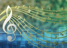 Music Template Stock Image