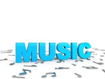 Music text Royalty Free Stock Image