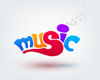 Music text design Stock Photography