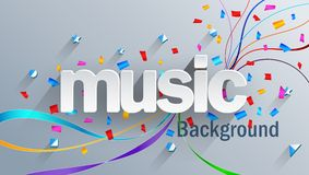 Music text on white background. Illustration of Music text on white background royalty free illustration