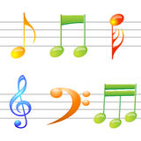 Music texts. Illustration of music texts on white background Stock Image