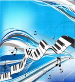 Music theme. Abstract vector illustration Royalty Free Stock Photo