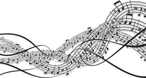 Music theme. Illustration of abstract music wave (vector available Royalty Free Stock Photo