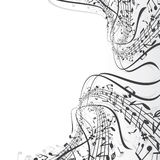 Music theme. Musical notes composition for your design Stock Photography