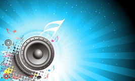 Music theme. Music notes background with halftone background Royalty Free Stock Photos