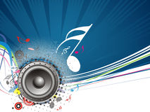 Music theme. Music notes background with halftone background Royalty Free Stock Images