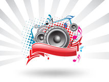 Music theme. A Speaker Music theme sample text Stock Photo
