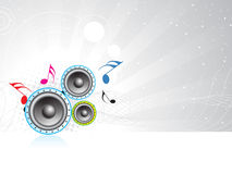 Music theme. A speaker Music theme background Stock Photo