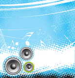 Music theme. With grunge halftone Stock Images