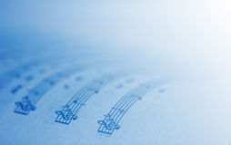 Music Theme. Background with blue gradient color stock photography