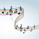 Music theme. Abstract music notes design for music background Stock Images