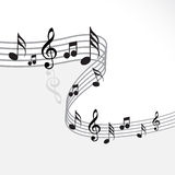 Music theme. Abstract music notes design for music background Stock Photo
