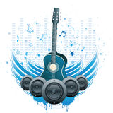 Music theme background Royalty Free Stock Photography