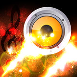 Music theme background. With musical note Royalty Free Stock Photos