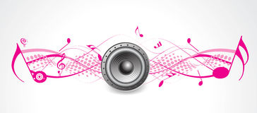 Music theme halftone with loud Stock Image