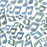 Music theme seamless pattern with notes Stock Images