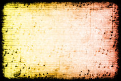 Music Themed Abstract Grunge Background. A Music Themed Abstract Grunge Background Texture Royalty Free Stock Photos