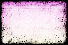 Music Themed Abstract Grunge Background Royalty Free Stock Photos