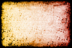 Music Themed Abstract Grunge Background. A Music Themed Abstract Grunge Background Texture Stock Photography