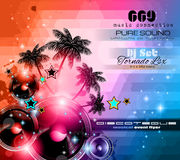 Music Themed background for Disco Club Flyers Royalty Free Stock Images