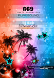 Music Themed background for Disco Club Flyers Stock Images