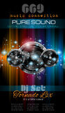 Music Themed background for Disco Club Flyers Stock Photo