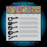 Music themed web page Stock Image