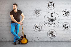 Music time concept Stock Photos
