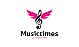 Music Times Logo. Minimalist and modern music logo template. Simple work and adjusted to suit your needs Stock Photography